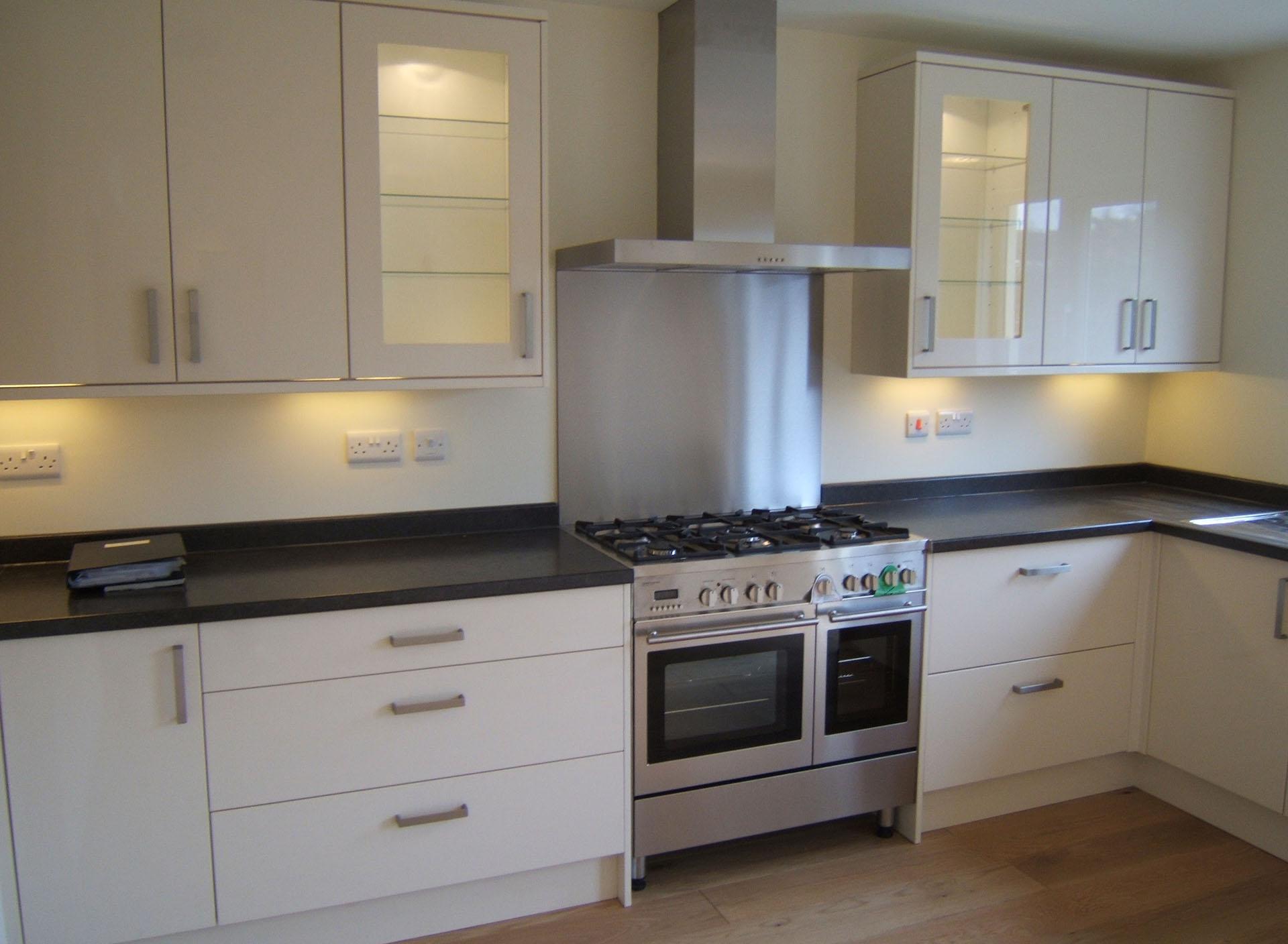 New white kitchen install Kent - Joseph PCL
